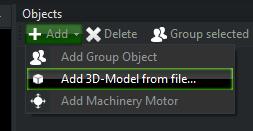 Scene Contruction > Import 3D-Model from external File
